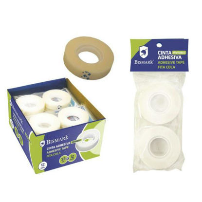 poes313414-cinta-adhesiva-invisible-33mx12mm-2u-bismark