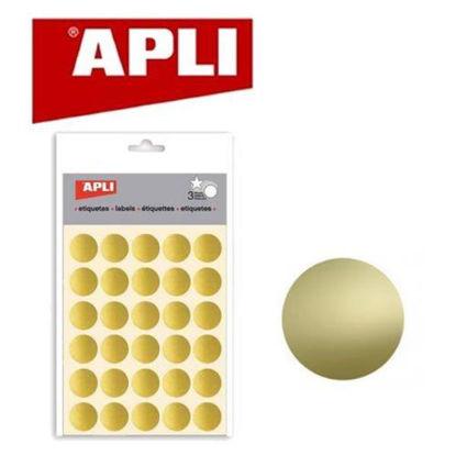 apli11808-pegatina-redonda-20mm-oro-11808