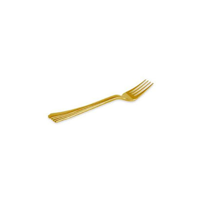 maxi5383-tenedor-mini-metalizado-oro-15u-10cm-ps