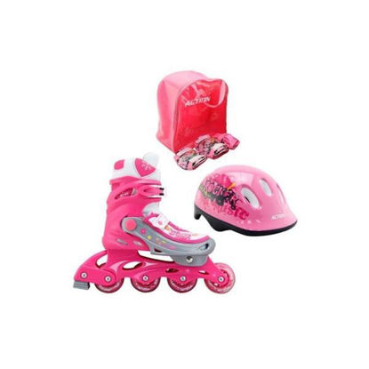 fent783pw122pinkm-patines-protectores-casco-rosa-mochila-t-35