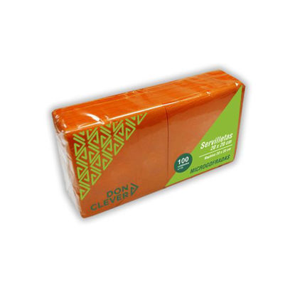 dicaser250-servilleta-microgofrada-naranja-20x20cm-100u-