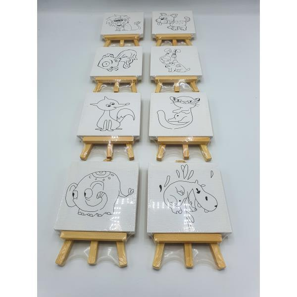 Plasticosur Lienzo Mini Para Pintar C Dibujo 10x10x1cm