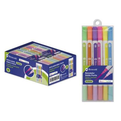 poes327907-rotulador-doble-punta-neon-pastel-6-colores
