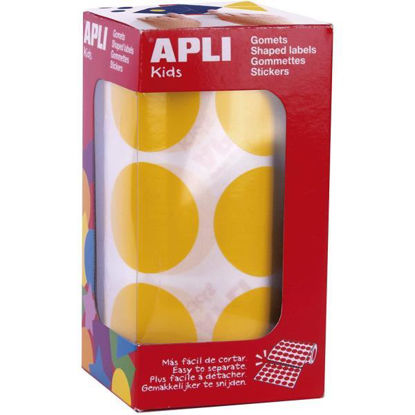apli17865-gomets-redondos-33mm-amarillo