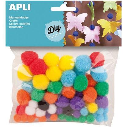 apli13061-pom-pom-78u-stdo-tamanos-y-colores-blister