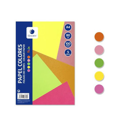poes328358-papel-colores-5-col-neon-a4-100h-80gr