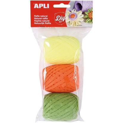 apli14412-rafia-natural-tonos-fluor-3u-30m-blister