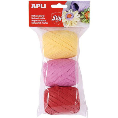 apli14415-rafia-natural-tonos-candy-3u-30m-blister