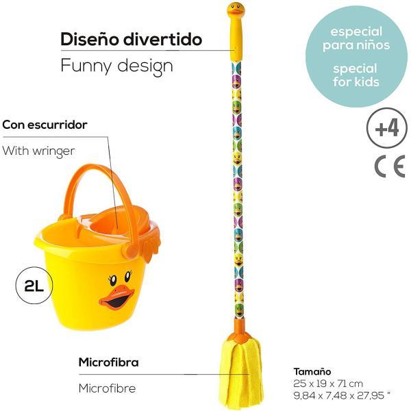viga7543-fregona-cubo-infantil-duck